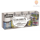 COLOREX  set akvarelnih transparentnih tušev 5 x 45 ml + čopič