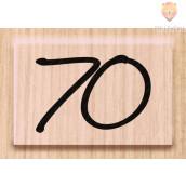 "Lesena štampiljka ""70"" 1 kos"