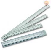 Aluminijasto ravnilo - 30 cm