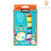 Set svetlečih akrilnih barv Glossy Acrylic pastelni odtenki - 6 x 20 ml