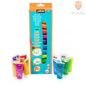 Set svetlečih akrilnih barv Acrylcolor z bleščicami - 12 x 20 ml