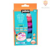 Set svetlečih akrilnih barv Acrylcolor z bleščicami - 6 x 20 ml