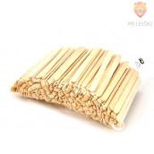 Lesene palčke 500 kosov naravne