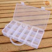 Plastična škatla za shranjevanje in sortiranje z ročajem