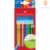 Akvarelne barvice Faber-Castell Grip 12/1