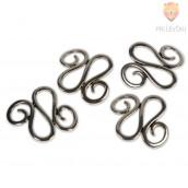 Vijuge - kovinski deli za nakit, 4 kos