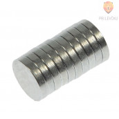 Magneti 10x2mm 10 kosov srebrne barve