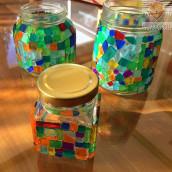 Akrilni mozaik kozarci