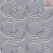 Nalepke POROČNI PRSTANI srebrne barve