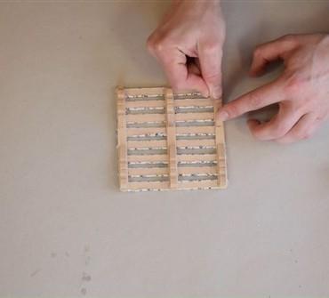 VIDEO: Podstavek za skodelico iz lesenih palčk