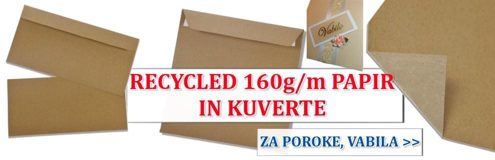 Recikliran eko papir rjav
