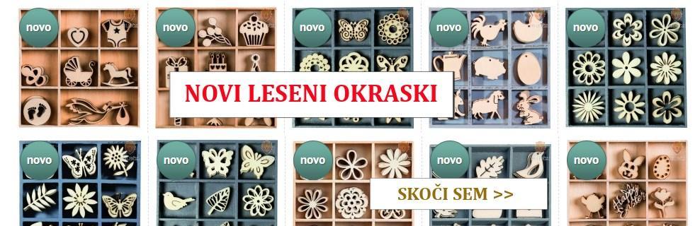 Novi leseni okraski v spletni trgovini