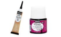 Barve za steklo na alkidni osnovi Vitrail in dodatki