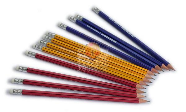 Navadni klasični svinčnik, HB, različne barve, 1 kos