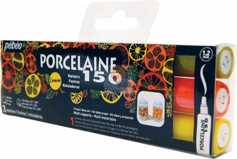 Set flomastrov Porcelaine 150 Lemon 3 kosi