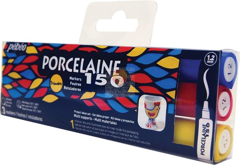 Flomastri za poslikavo porcelana Porcelaine 150 debeline 1 2, mm - 3 kosi