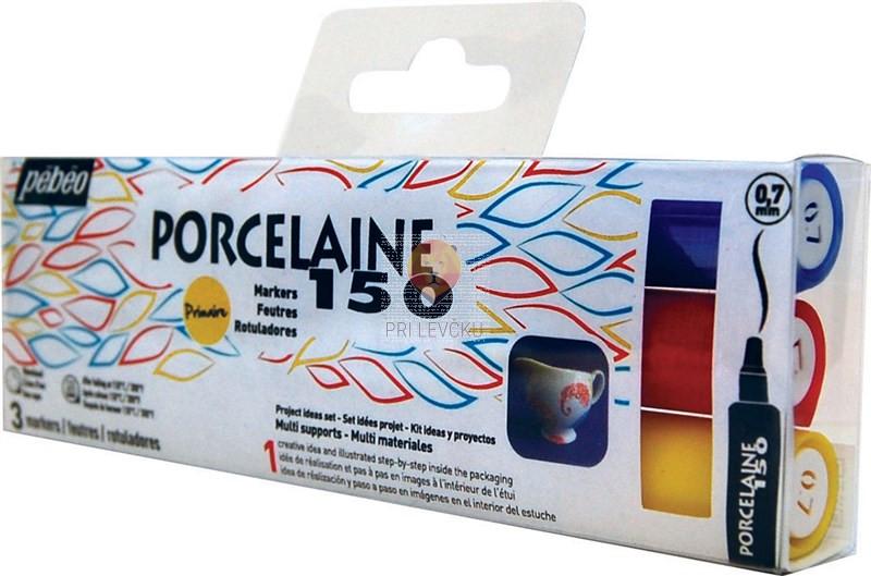 Flomastri za poslikavo porcelana Porcelaine 150 debeline 0,7 mm - 3 kosi
