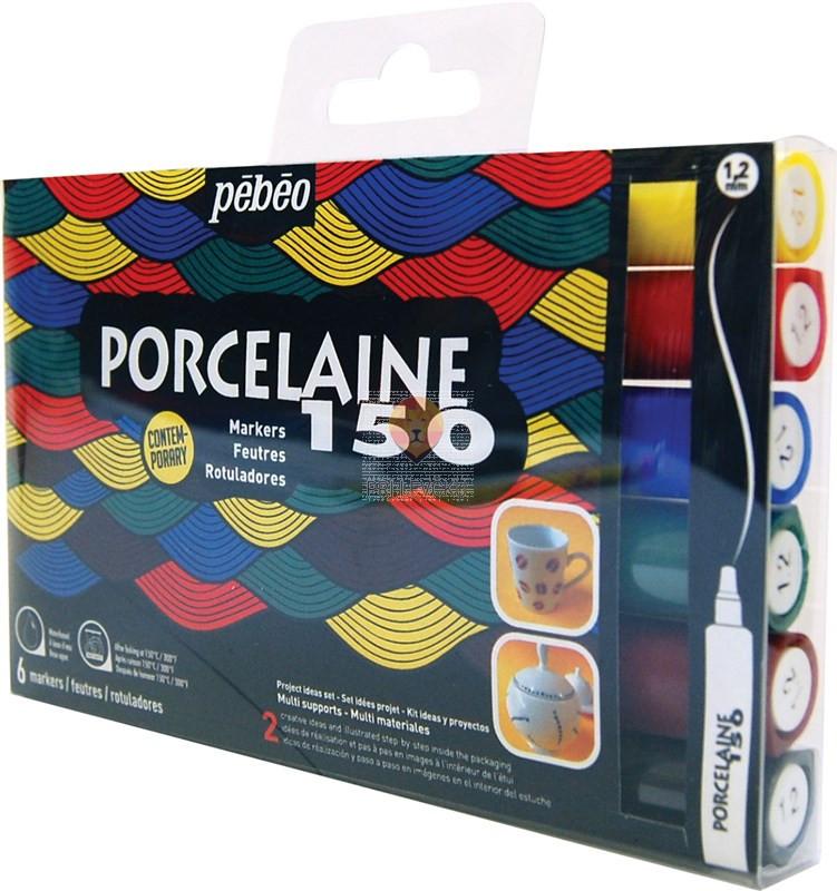 Flomastri za poslikavo porcelana Porcelaine 150 debeline 1,2 mm - 6 kosov