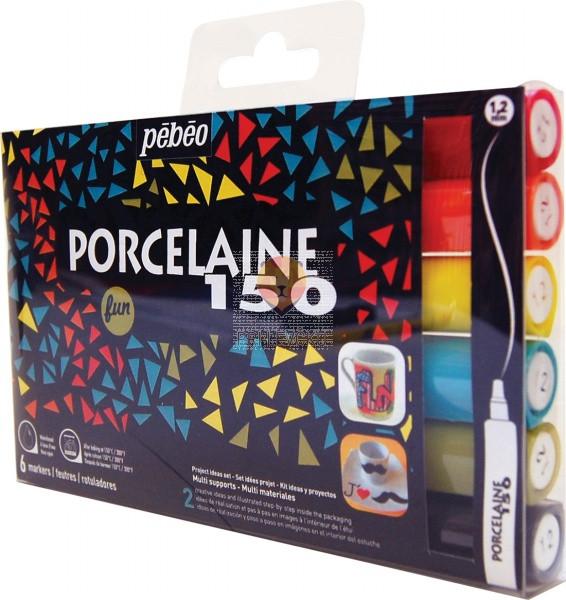 Set flomastrov Porcelaine 150 Fun 6 kosov
