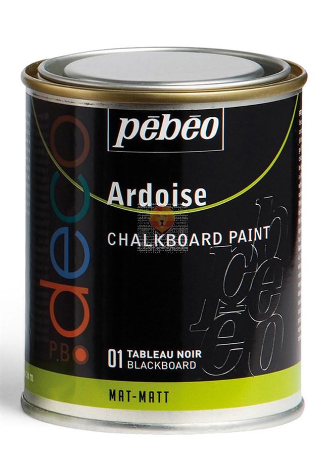 Deco barva za tablo črna, 250 ml