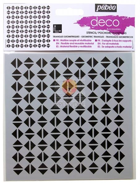 Deco Šablona 15 x 15 cm - Trikotniki