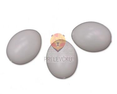 Plastične bela jajca za marmoriranje 4,5 cm 10 kos