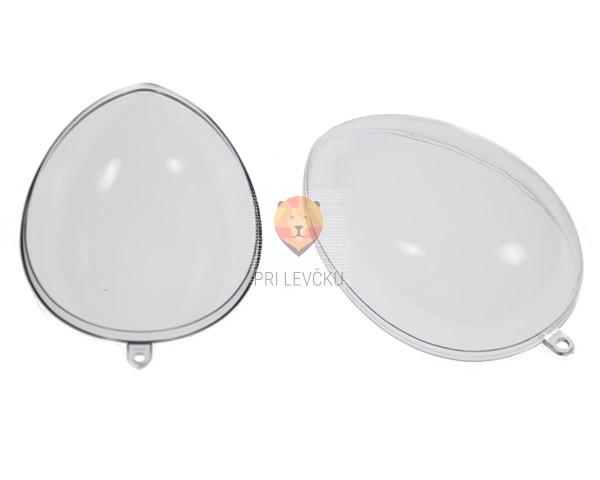 Jajce prozorno dvodelno od 6 do 10 cm, 5 kosov