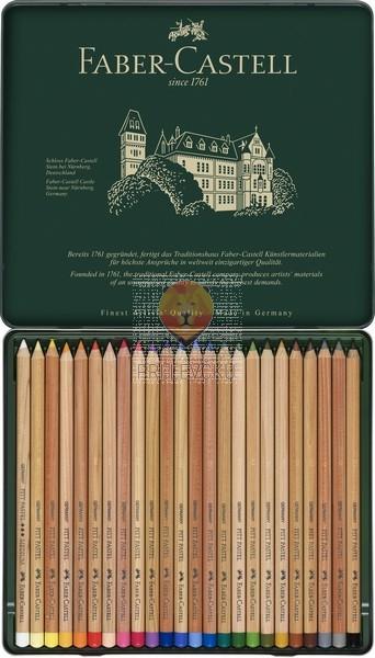 Umetniški pasteli v svinčniku Faber-Castell 24 kosov