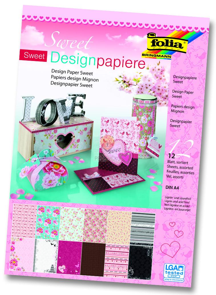 Design papir blok A4 Sweet 12 kosov