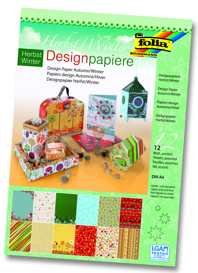 Design papir blok A4 Jesen/Zima