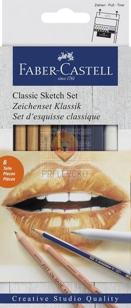 Set za klasično skiciranje Monochrome 6 kosov Faber-Castell