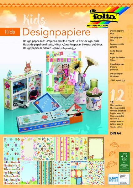 Design papir Kids 165g/m2 A4 12 kosov