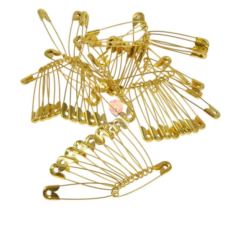 Varnostne zaponke - knofljice v zlati barvi