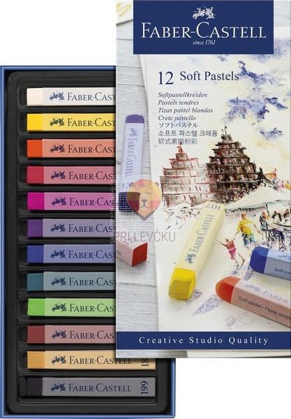 Mehki suhi pasteli STUDIO Faber-Castell 12 kosov