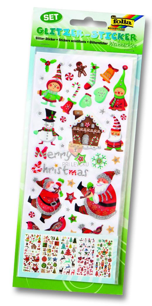 Nalepke z bleščicami - Božič