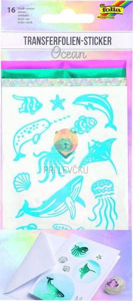 Nalepke za transferno folijo Ocean 16 kosov+3 folije