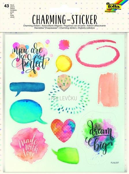 Nalepke Charming sticker Akvarel 43 kosov
