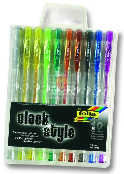 Gel pisala Black Style Glitter 10 kosov