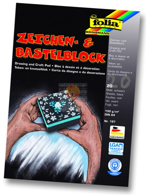 Risalni blok črn A4 130 g/m2 10-listni