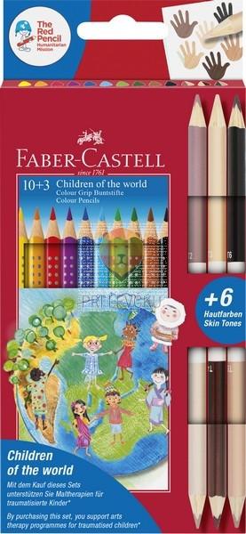 Barvice GRIP Otroci sveta 10+3 barvice