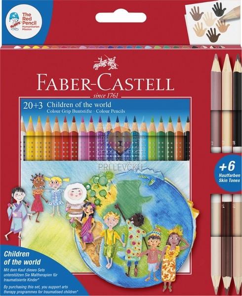 Barvice GRIP Otroci sveta 20+3 barvice