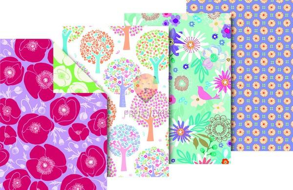 Zavijalni papir Springtime 80 g/m2 70 x 200 cm