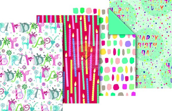 "Zavijalni papir ""Happy Birthday,"" 80 g/m2, 70 x 200 cm"