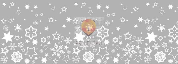 Samolepilna bordura za okno Zvezdice 7,5x200cm