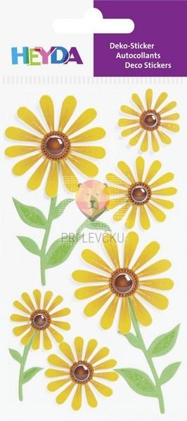 Nalepke za dekoracijo rožice 6 kosov