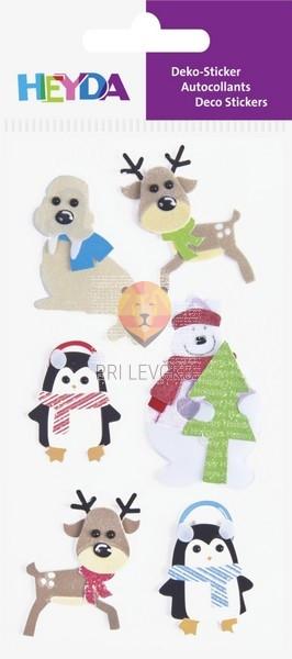 Nalepke za dekoracijo Božične živali