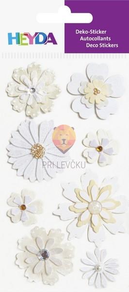 Nalepke za dekoracijo Bele rožice