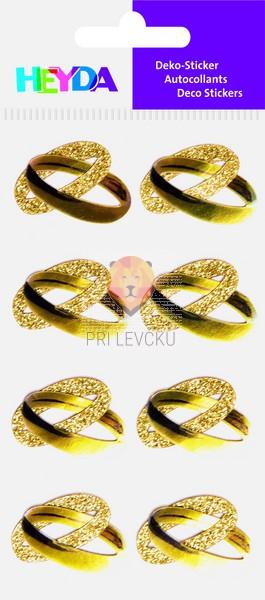 Nalepke z dekorativnimi detalji Poročni prstani