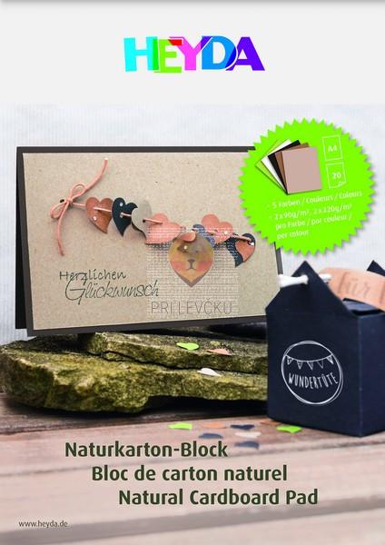 Blok naravnega kartona 20 listov