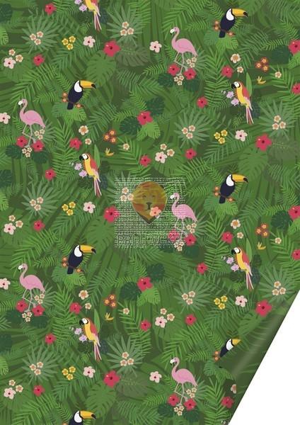 Karton z motivi Džungla 300g/m2 50x70cm 1 kos